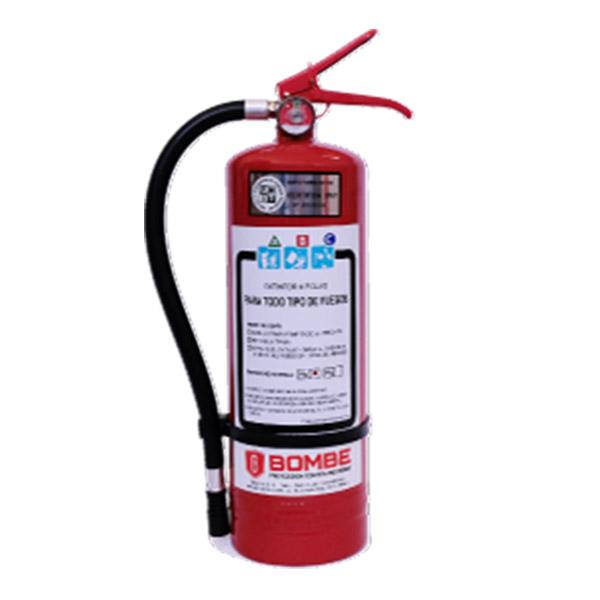Extintor A Polvo ABC De 4 Kilos De Capacidad Con Kit De Instalación