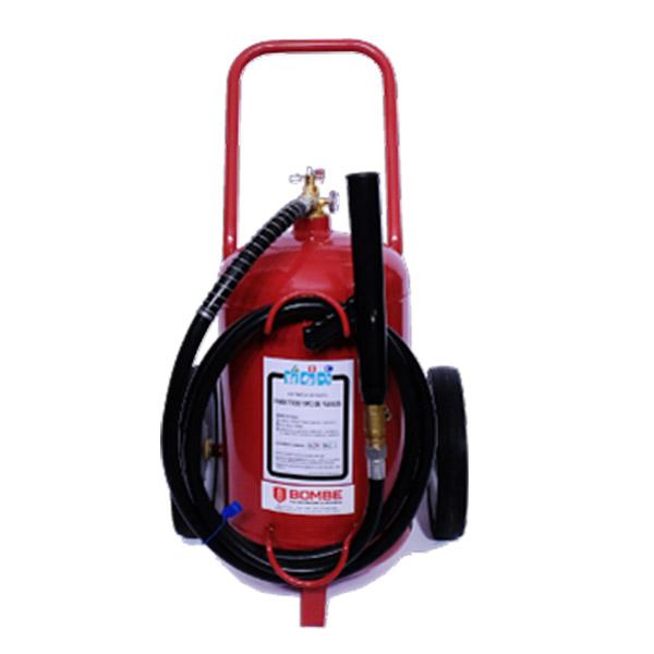 Extintor A Polvo ABC De 25 Kilos De Capacidad Sobre Ruedas