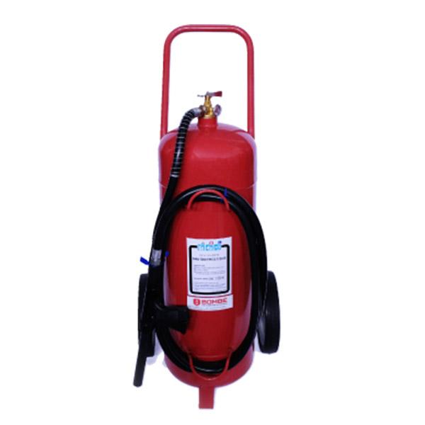 Extintor A Polvo ABC De 50 Kilos De Capacidad Sobre Ruedas