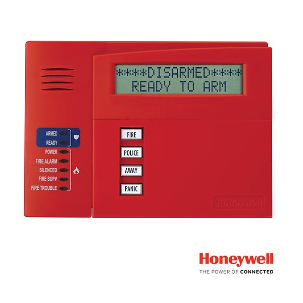 Teclado Para Central HONEYWELL 6160CR2 Rojo