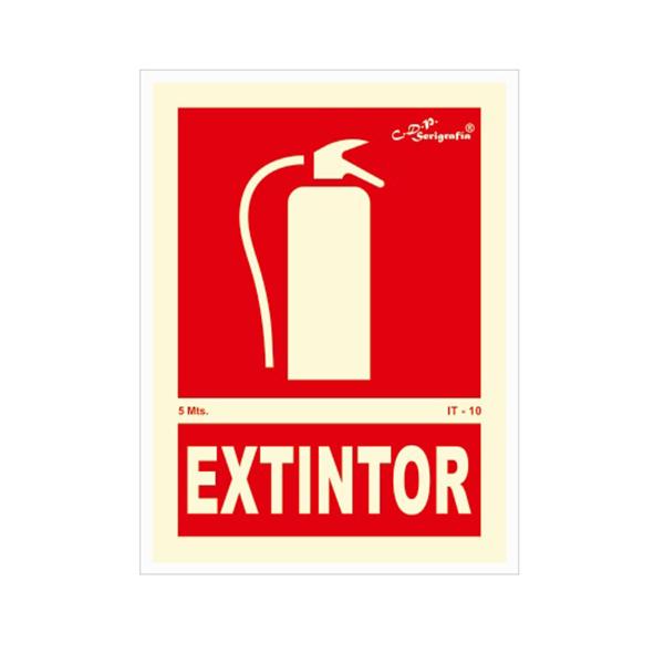"Carteles Fotoluminiscentes ""Extintor"""
