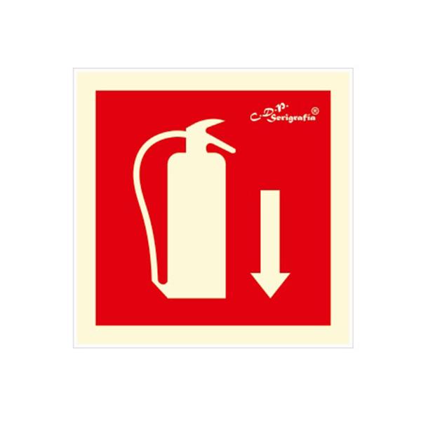 "Cartel Fotoluminiscente ""Extintor"""