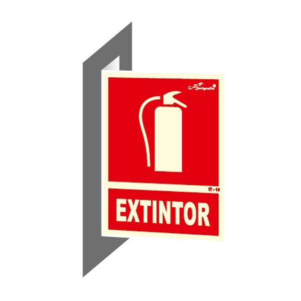 "Cartel Fotoluminiscente Doble Faz ""Extintor"""