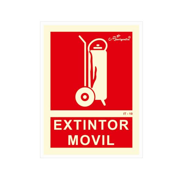 """Cartel Fotoluminiscente """"Extintor Móvil"""""""