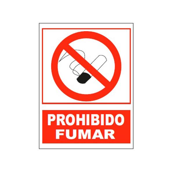 """Cartel Tinta Acrílica """"Prohibido Fumar"""""""