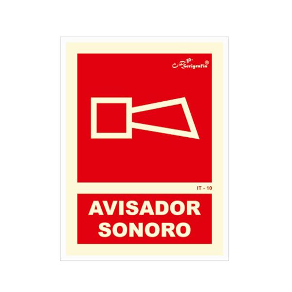 """Cartel Fotoluminiscente """"Avisador Sonoro"""""""