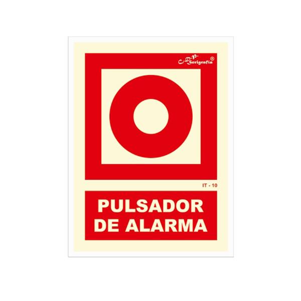 """Carteles Fotoluminiscentes """"Pulsador De Alarma"""""""