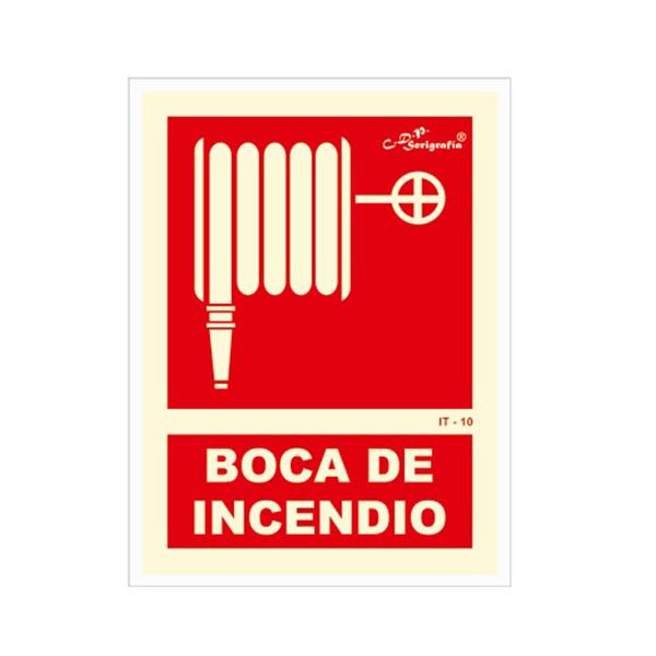 "Carteles Fotoluminiscentes ""Boca De Incendio"""