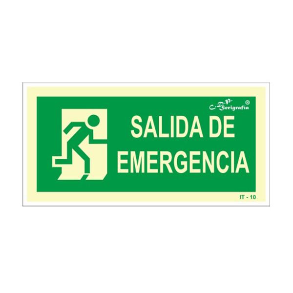 "Carteles Fotoluminiscentes ""Salida De Emergencia"""