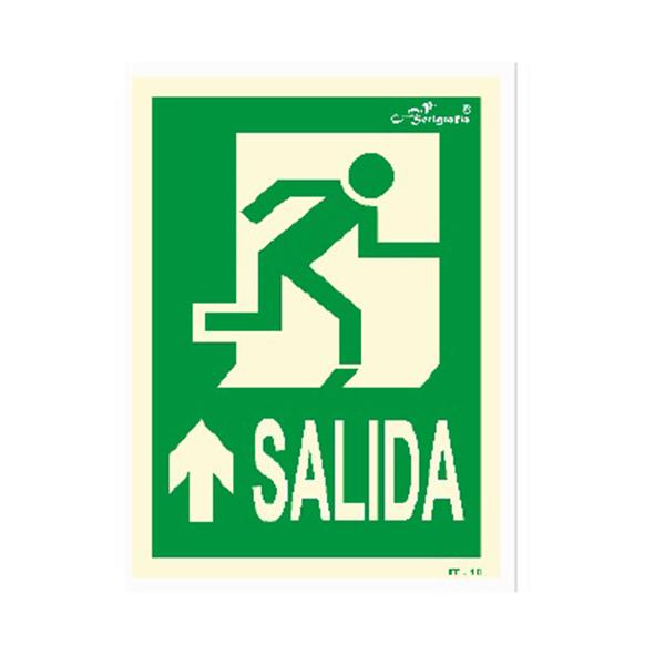 "Cartel Fotoluminiscente ""Salida Hacia Adelante"""