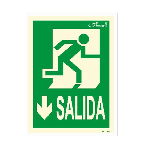 "Cartel Fotoluminiscente ""Salida"""