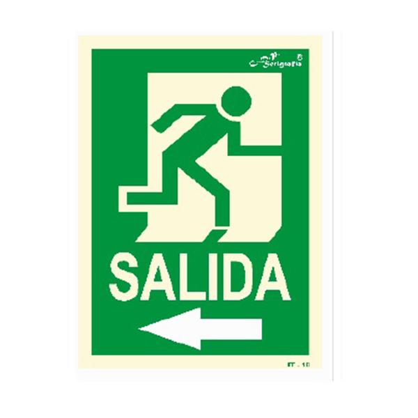 "Cartel Fotoluminiscente ""Salida A La Izquierda"""