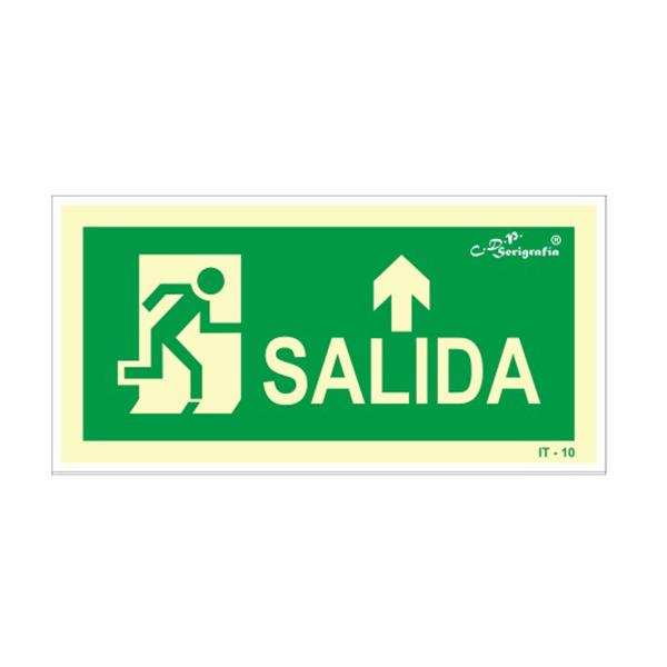 "Cartel Fotoluminiscente ""Salida Adelante"""