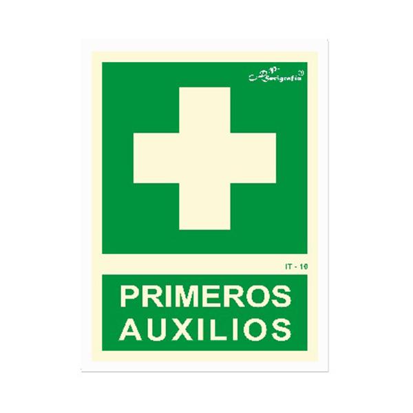 """Cartel Fotoluminiscente """"Primeros Auxilios"""""""