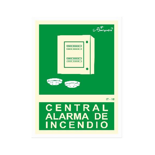 """Cartel Fotoluminiscente """"Central De Alarma De Incendio"""""""