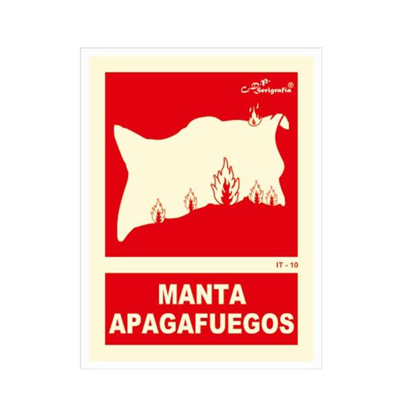"Cartel Fotoluminiscente ""Manta Apagafuegos"""