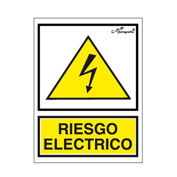 "Cartel Tinta Acrílica ""Riesgo Eléctrico"""