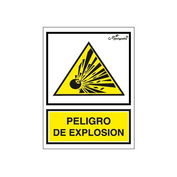 """Cartel Tinta Acrílica """"Peligro De Explosión"""""""