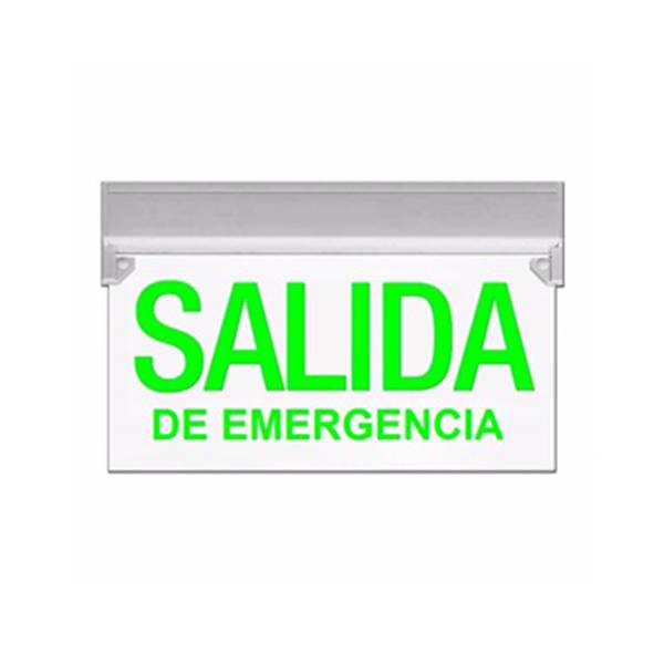 """Cartel Permanentemente Iluminado """"Salida De Emergencia"""""""