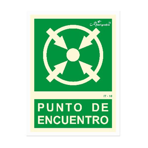 """Cartel Fotoluminiscente """"Punto De Encuentro"""""""