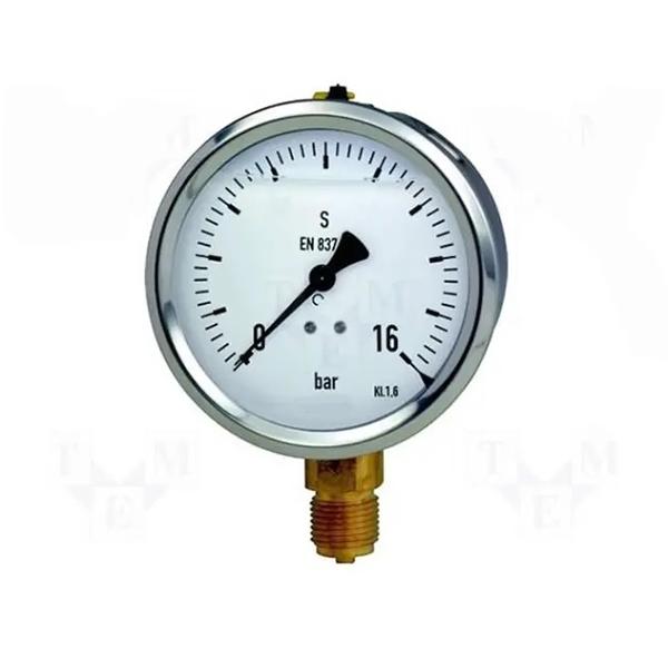 Manómetro De Presión 0 A 16 Bar Bajo Glicerina